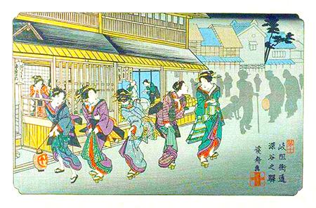 深谷之駅(渓斎英泉)