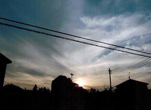 英泉が「鴻巣・吹上冨士」を描いたとされる旧前砂村周辺。英泉もこんな夕暮れを見たのだろうか