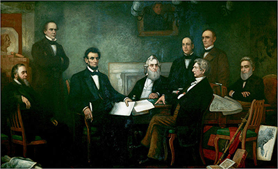 「奴隷解放宣言」を起草するリンカーン